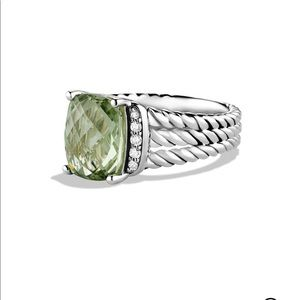 David Yurman Petite Wheaton Ring DiamondPrasiolite